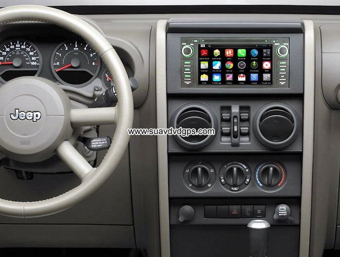 Jeep Wrangler upgrade Android Car GPS Radio WIFI 3G DVD Player APP